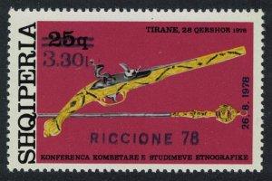 Albania Pistol Dagger Intl Fair Riccione surch 1978 MNH SG#1959