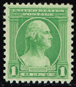 US STAMP #705 1932 1¢ Washington Washington Bicentennial Issue SUPERB