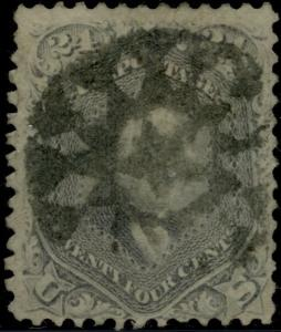 #78a SKINNER WITH NY FOREIGN MAIL CANCEL CV $375.00 BP5937