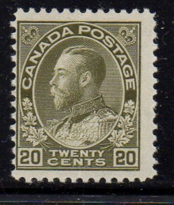 Canada Sc 119 1925 20c George V Admiral issue stamp mint