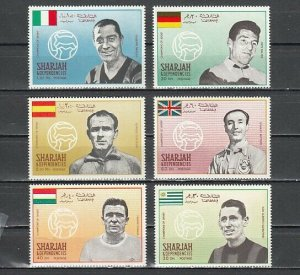 Sharjah, MI cat. 503-508 A. Soccer Players issue. ^