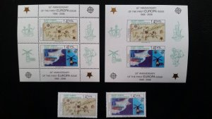 50th anniversary of EUROPA stamps - Cyprus TR 2x Bl + 1x set ** MNH