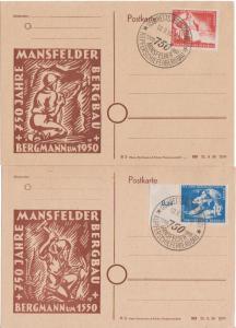 German Democratic Republic Scott 68-69 Unaddressed.