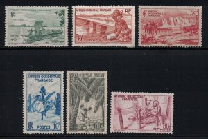 French West Africa  # 36-41  mng  Scv  $ 2.75