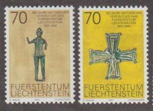 Liechtenstein Scott #1206-1207 Stamps - Mint NH Set