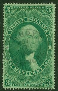 EDW1949SELL : USA 1862 Scott #R86c Beautiful stamp with deep color. Catalog $55.