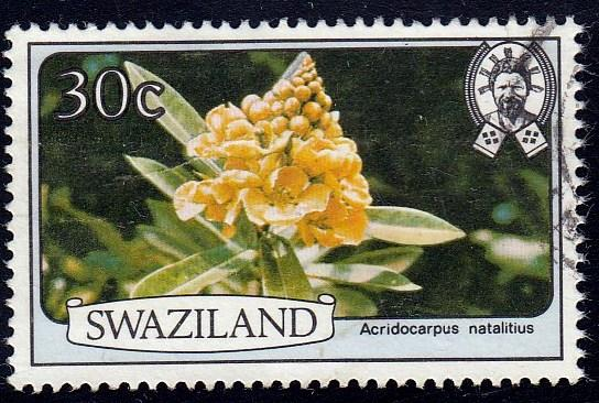 Swaziland #356 Flower, Used. PM, HR, Crease.
