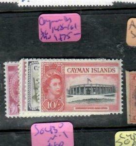 CAYMAN ISLANDS (P2312B)  QEII  TO 10/-  SG 148-161    MOG