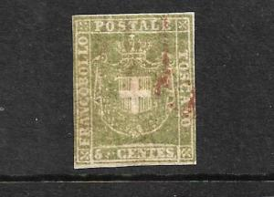 TUSCANY 1860  5c  OLIVE GREEN  ARMS  FU   Sc 18a  SG 39