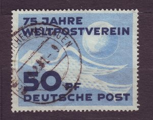 J23212 JLstamps 1949 DDR germany used #48 pigeon globe