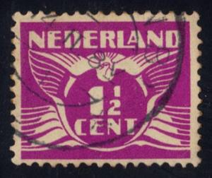 Netherlands #166 Gull, used (0.25)