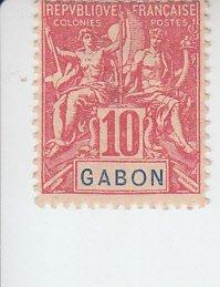 1904 Gabon Navigation & Commerce (Scott 20) MHR
