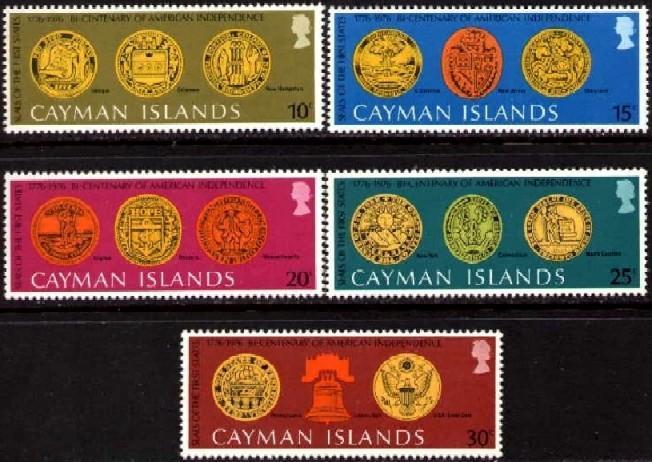 Cayman Islands MNH 372-6 USA Bicentennial Seals
