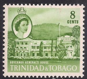 Trinidad & Tobago 1960 - 67 QE2 8ct Governors House MM SG 288 ( L1497 )