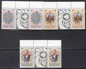 Vanuatu, Sc 308-310, MNH, Royal Wedding, Gutter Pair