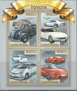 GUINEA BISSAU 2012 75th ANNIVERSARY OF TOYOTA  SHEET NH