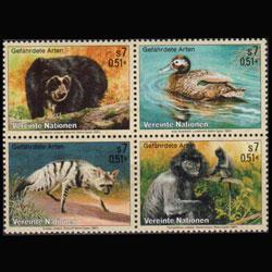 UN-VIENNA 2001 - Scott# 287a Endang.Species Set of 4 NH