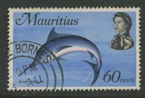 Mauritius -Scott 351 - Fish Definitive Issue -1969 - FU - Single 60c Stamp