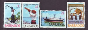 J22210 Jlstamps 1967 barbados set mnh #294-7 police