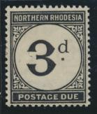 Northern Rhodesia  SG D3 SC# J3 MH Postage Due 1929 - see details