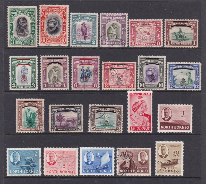 North Borneo a small M&U lot 1930-1950