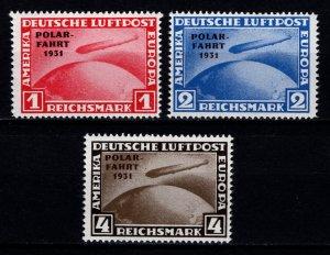 Germany reprint of 1931 Graf Zepplin Polar Flight, Set [Mint]