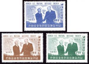 Korea 206-08 set/3 mnh 1954 US-Korea Defense Treaty