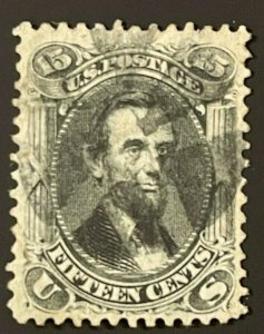 US Scott #77 Stamp President Abraham Lincoln Used with Fancy Cancel CV $175