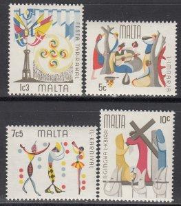 Malta MNH 505-8 Festivals 1976