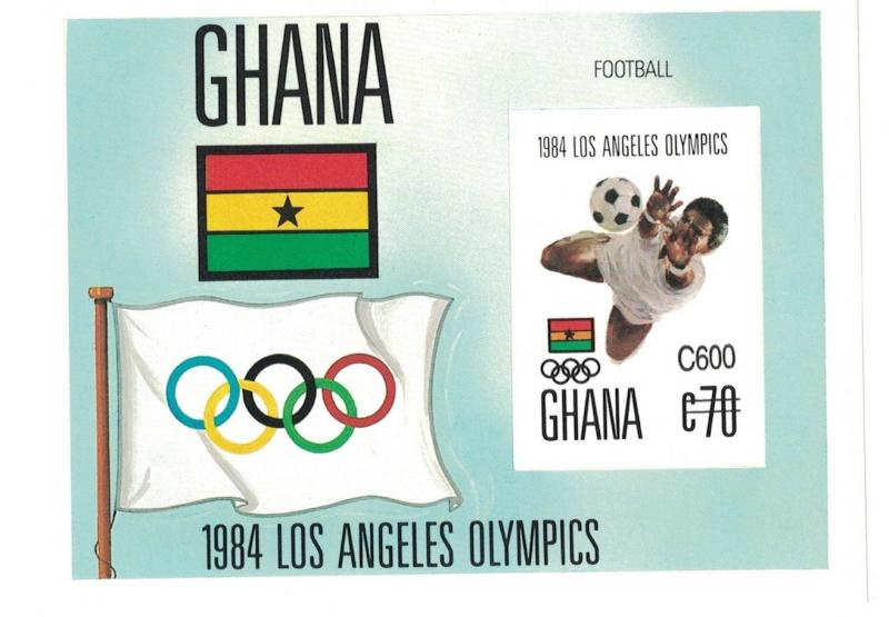 Ghana - 1989 Los Angeles Olympics 1984 - Sc 1116 S/S MNH IMPERFORATE
