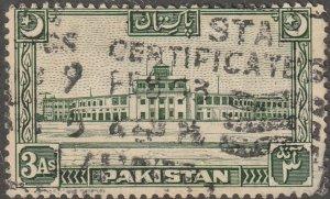Pakistan, stamp, Scott# 50, used, single stamp,  #50