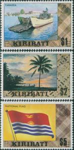Kiribati 1980 SG133-135 Ferry Scene Flag MNH