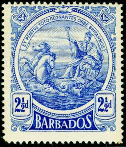 BARBADOS SG185, 2½d deep ultramarine, LH MINT.