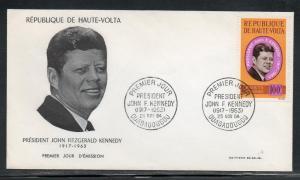 Upper Volta Kennedy JFK FDC 1964 A684