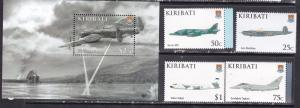 Kiribati 2009 military war aviation airships planes set+s/s MNH