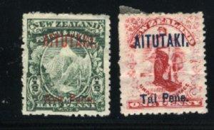 Aitutaki #1,2   Mint  VF 1903 PD