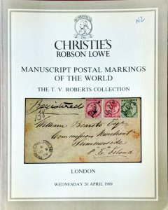 Auction Catalogue MANUSCRIPT POSTAL MARKINGS OF THE WORLD - TV Roberts