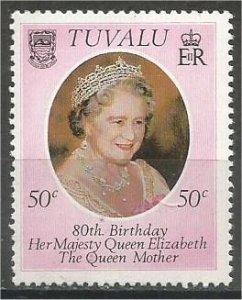TUVALU 1980, MNH 50c, Queen Mother Scott 137