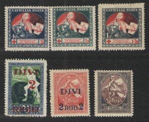Latvia 1920-21 lot MH VG - Semi postals, regular issues