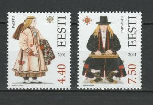 Estonia 2001 Traditional Costumes 2 MNH Stamps