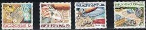 Papua New Guinea SC627-630&631a-d SS Sht.Of4 PostOfficeCentenary MNH 1985