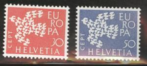 Switzerland Scott 410-411 MNH** Europa 1961 set