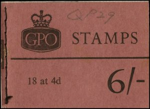 QP29 6/- Booklet October 1967. A complete booklet with post office fresh stamps.
