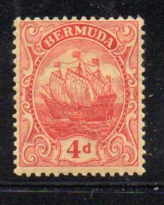 Bermuda Sc 47 1919 4d red Caravel stamp mint