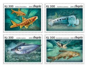 Z08 ANG18103a ANGOLA 2018 Fishes 4v MNH ** Postfrisch