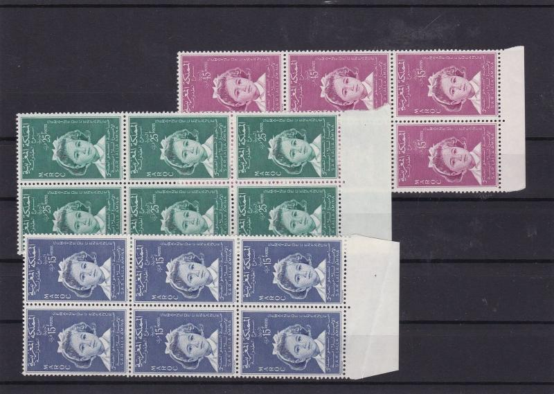 morocco 1959 childrens week blocks mnh stamps  Ref 8068