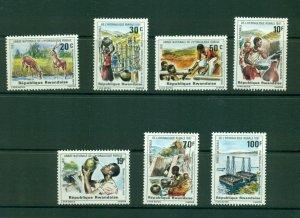 Rwanda  #1068-74  (1981 Rural Water Supply set) VFMNH CV $6.05