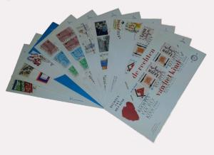 Netherlands 1989 Complete Year Set of 11 unaddressed First Day Covers FDC