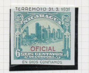 Nicaragua 1931 PROOF Issue Fine Mint Hinged 6c. Optd Official NW-14275