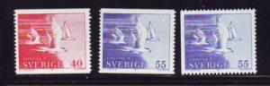 Sweden Sc 886-8 1971Terns Refugees stamp set mint NH